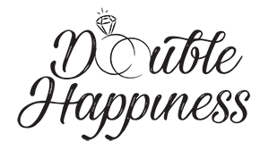 Double Happiness Wedding Organizer Logo